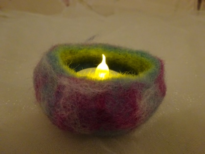 A tiny bowl, just big enough for a tea light!